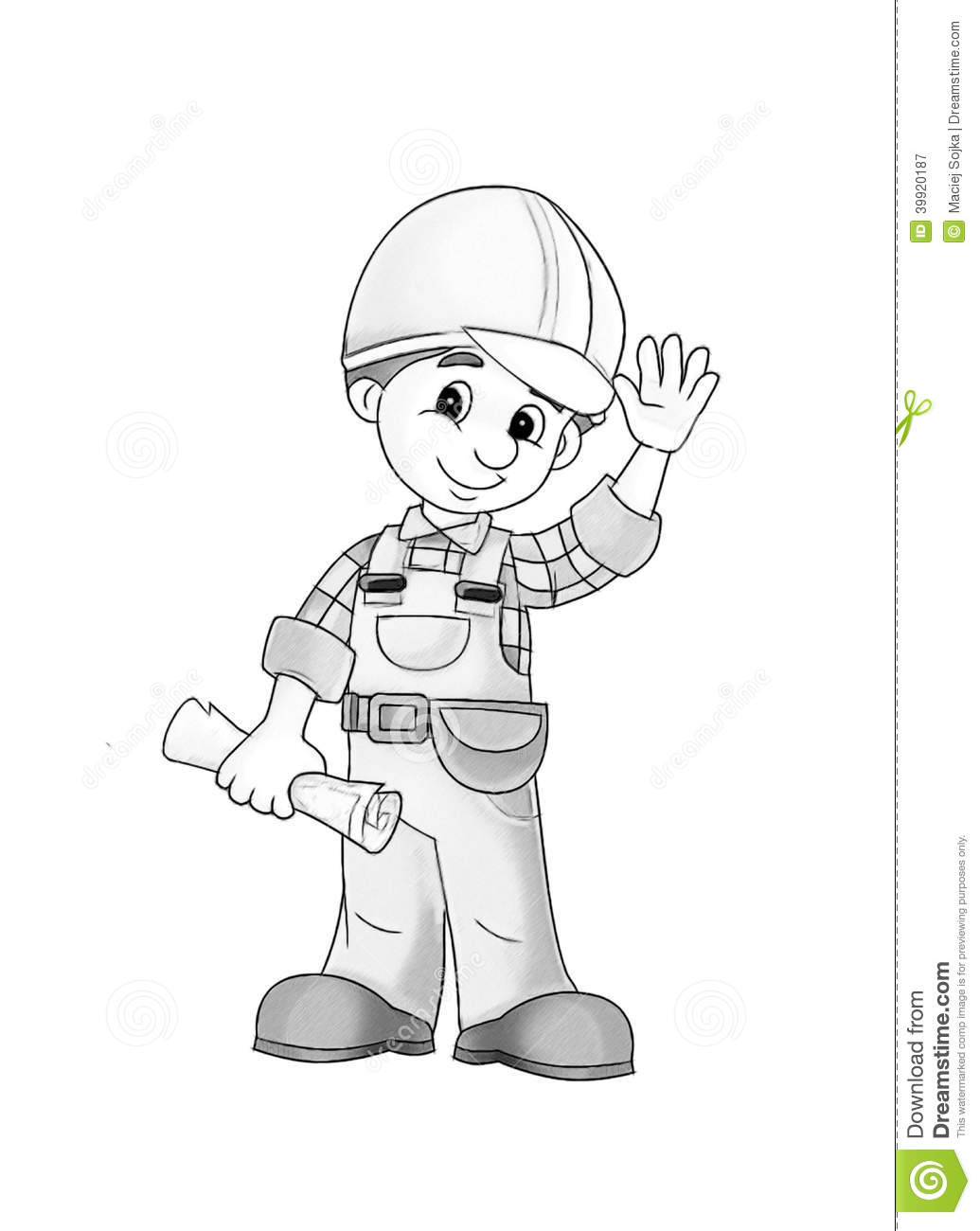construction site coloring page stock illustration image 39920187