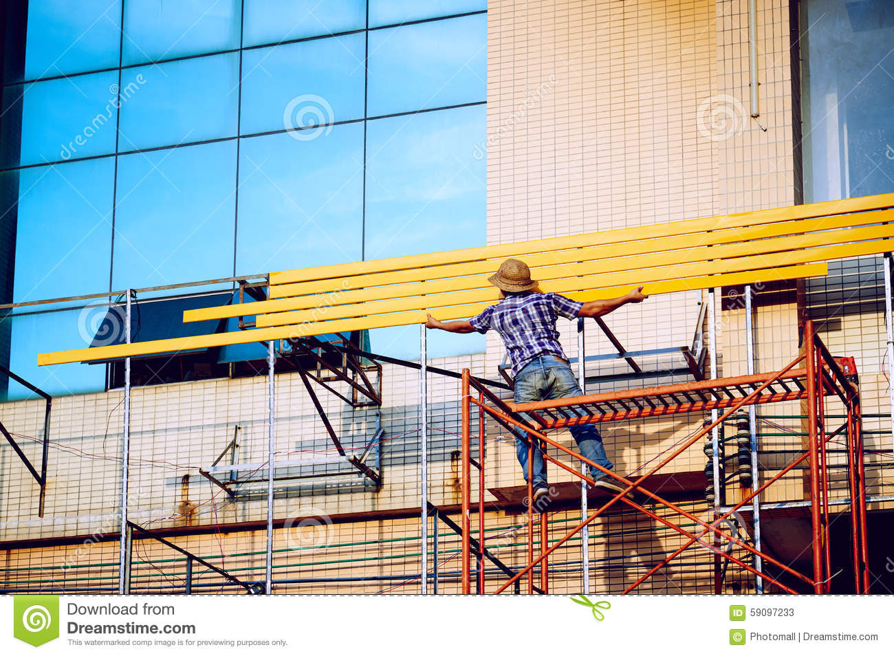 Scaffolding curtain royalty free stock image for Time saver details for exterior wall design
