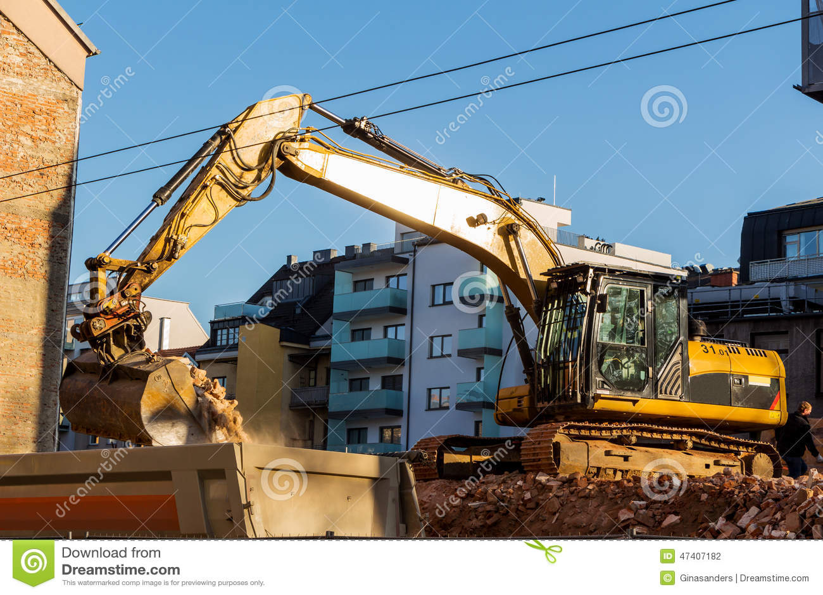 Building Demolition Cartoon : Construction demolition site royalty free stock photo