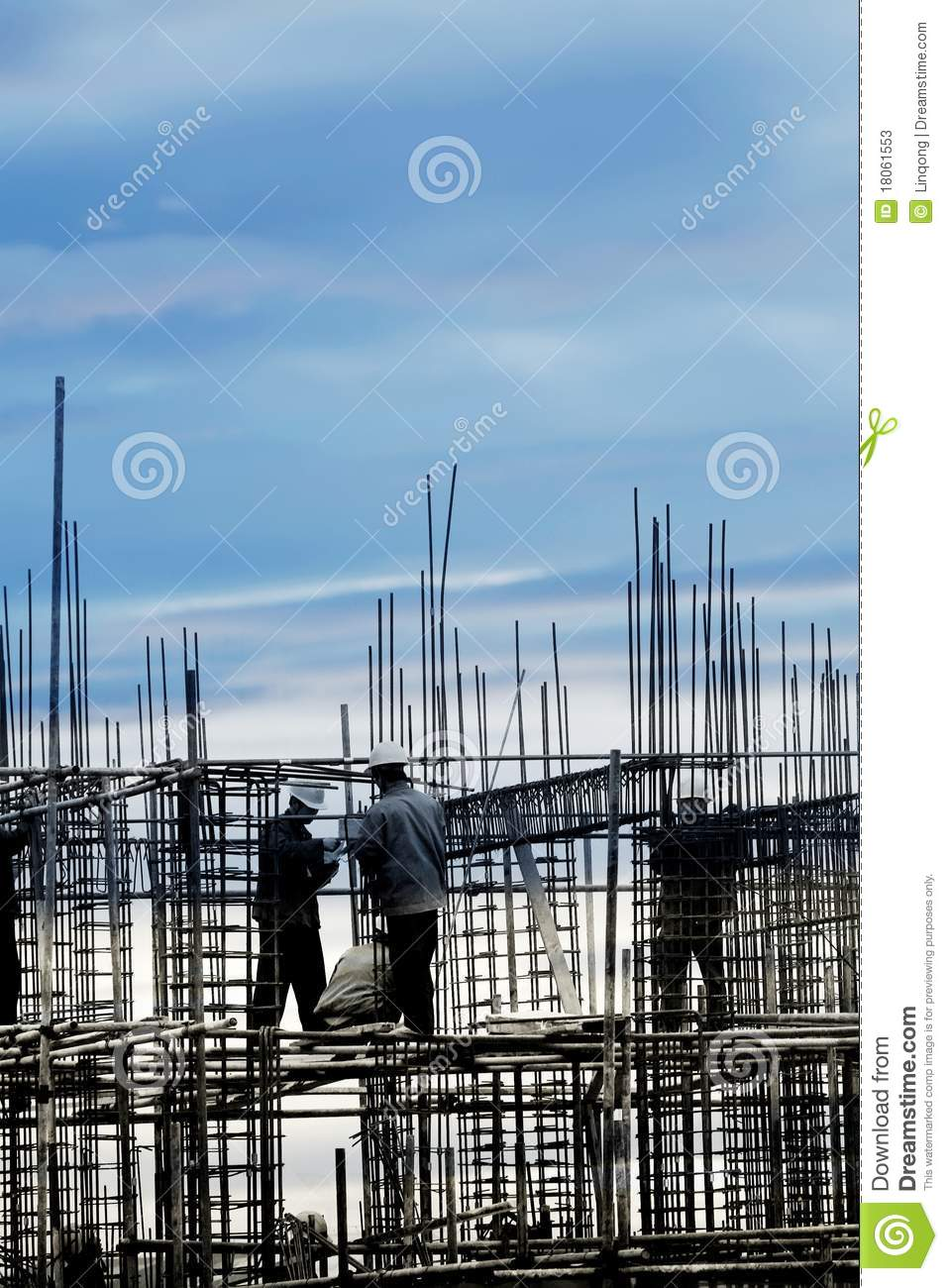Construction site in the dusk