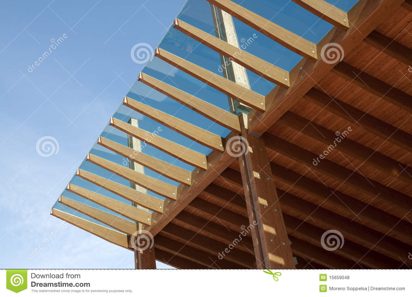 Construction Site Glued Laminated Timber Stock Photo