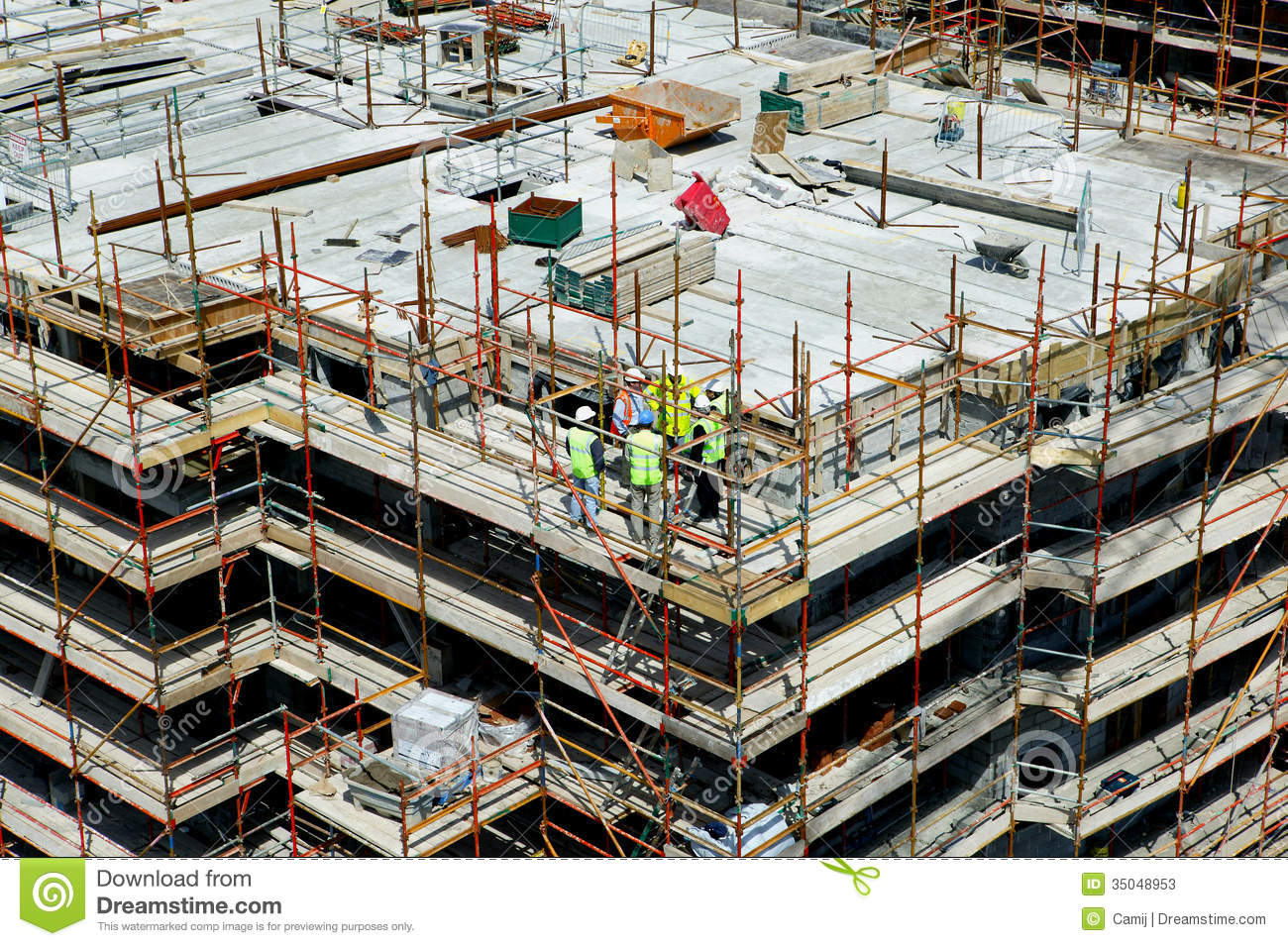 Construction site stock photos image 35048953 for Site in construction