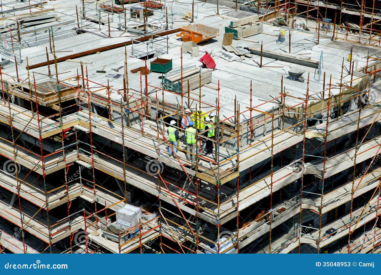 Construction site stock image image of concrete outdoors for Site constructeur
