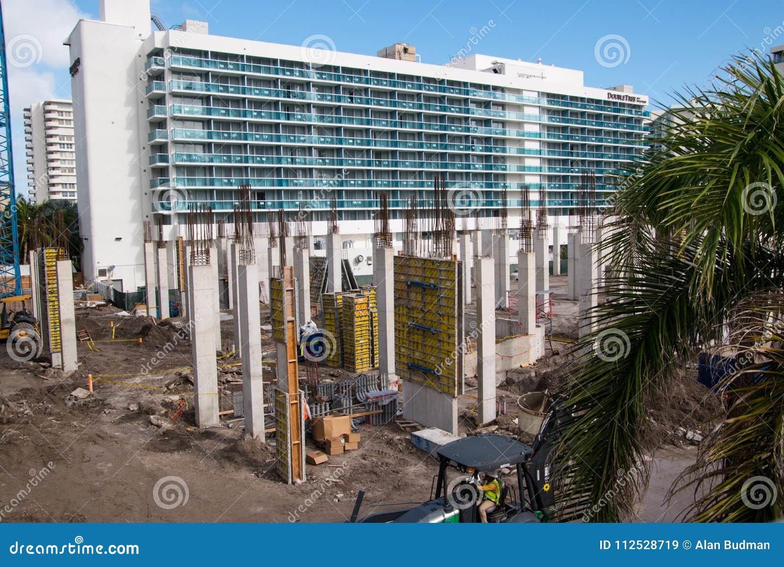 Construction site in Hallandale Florida