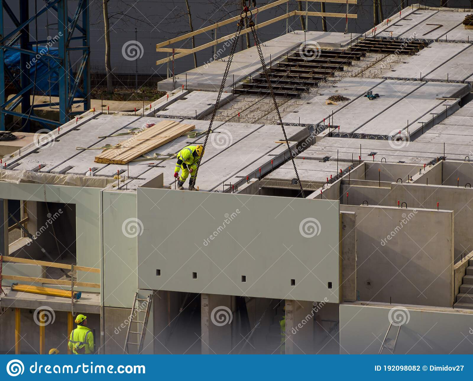 Construction Site Of House Stock Photo Image Of Helmet 192098082
