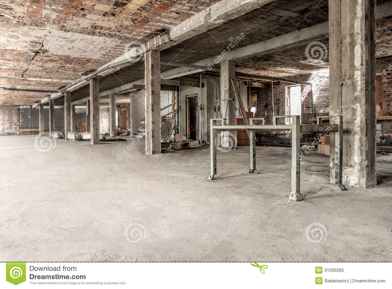 Interior Building Construction : Construction site royalty free stock image