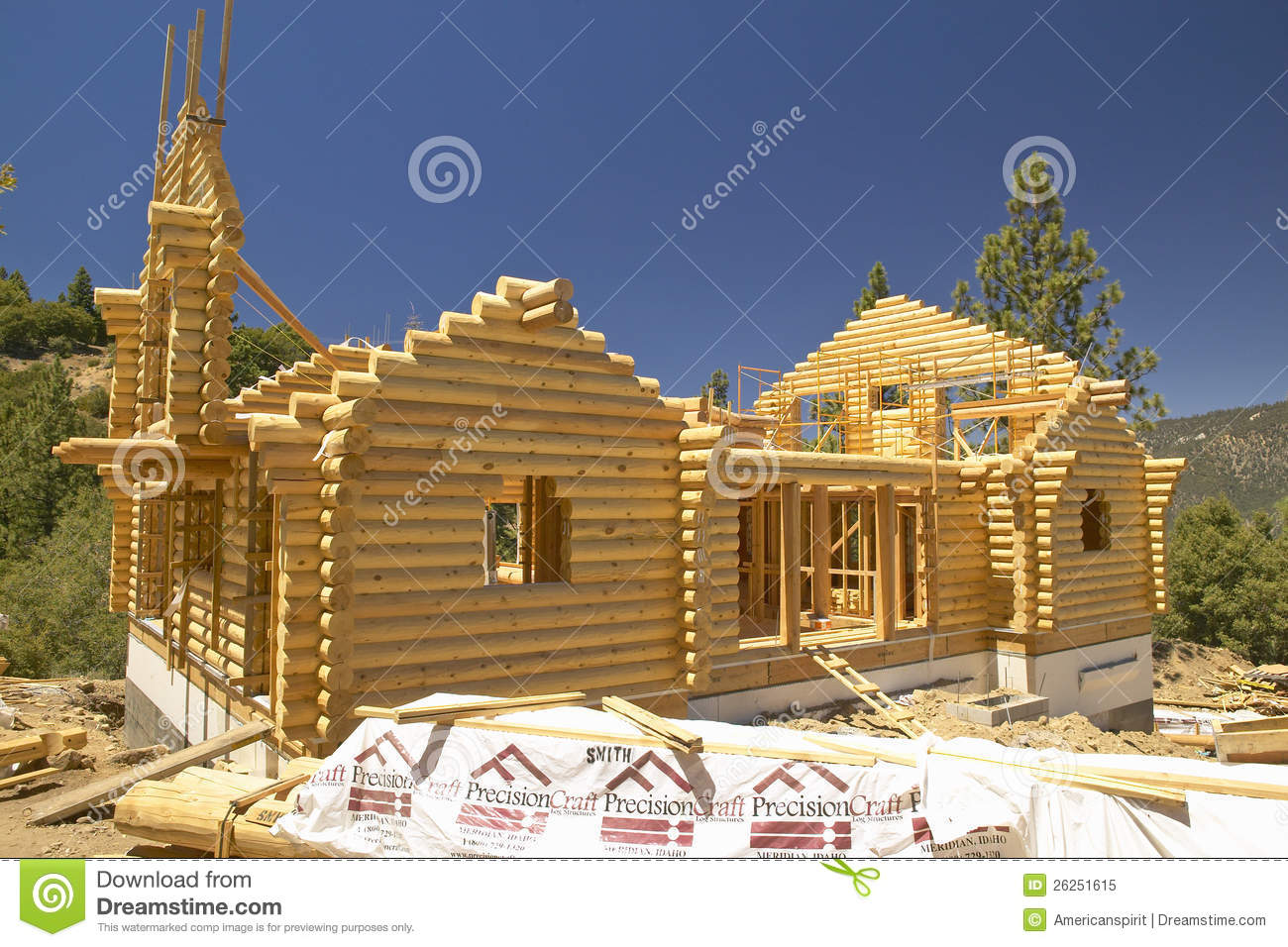 Construction Site Of Log Cabin Editorial Image Image