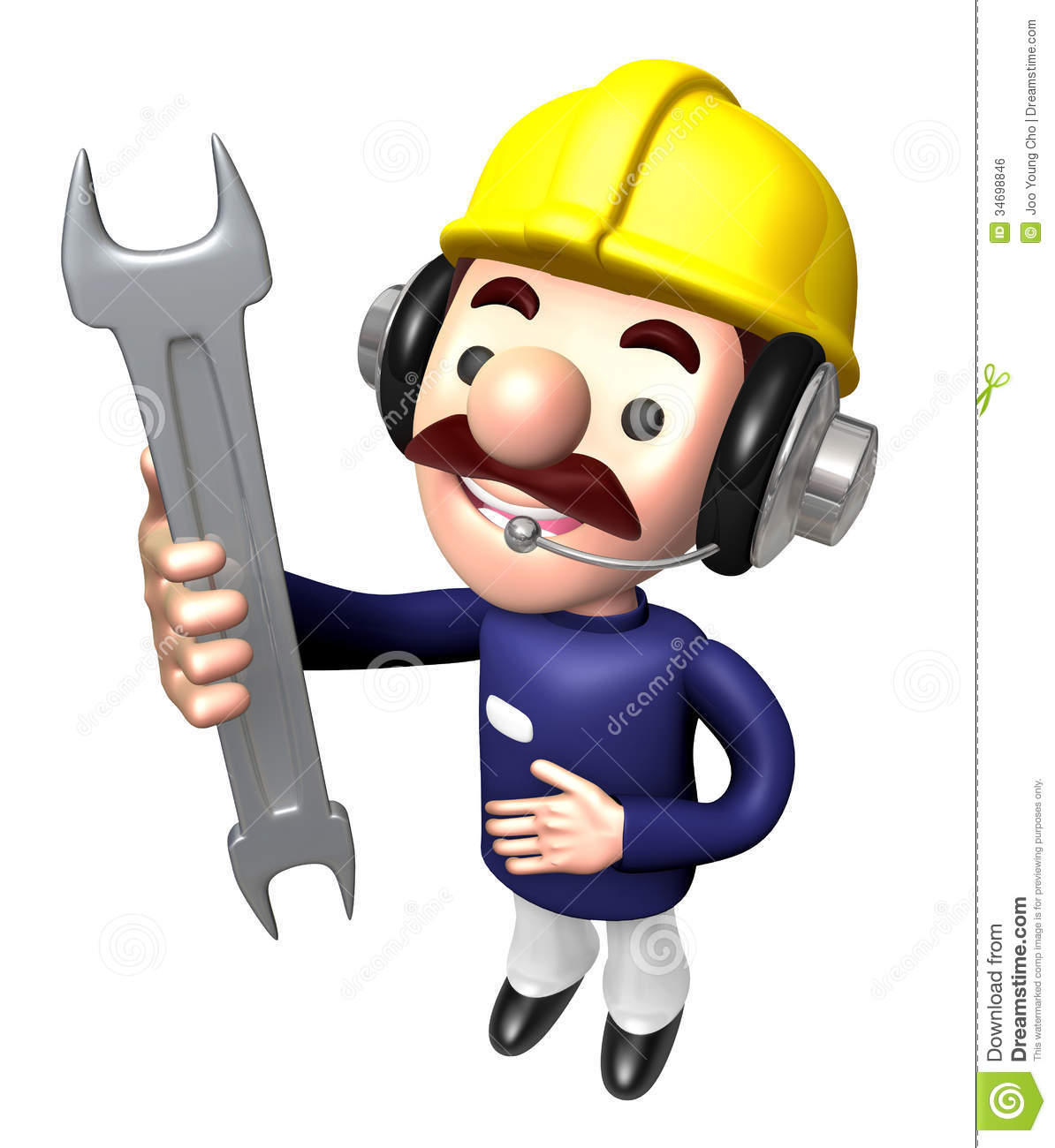 Construction site man holding a spanner royalty free stock for Character designer job