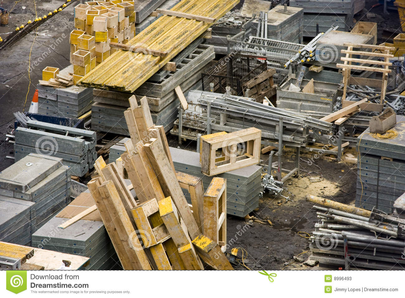 Construction Site With Materials Stock Photos Image 8996493