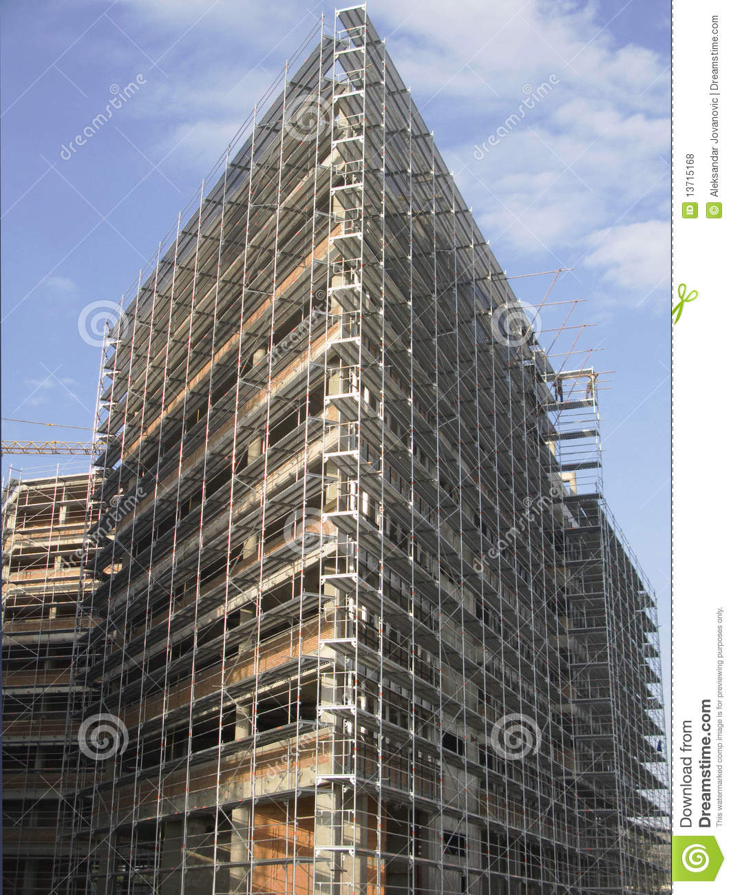 Construction site of modern building stock photography for Modern building construction