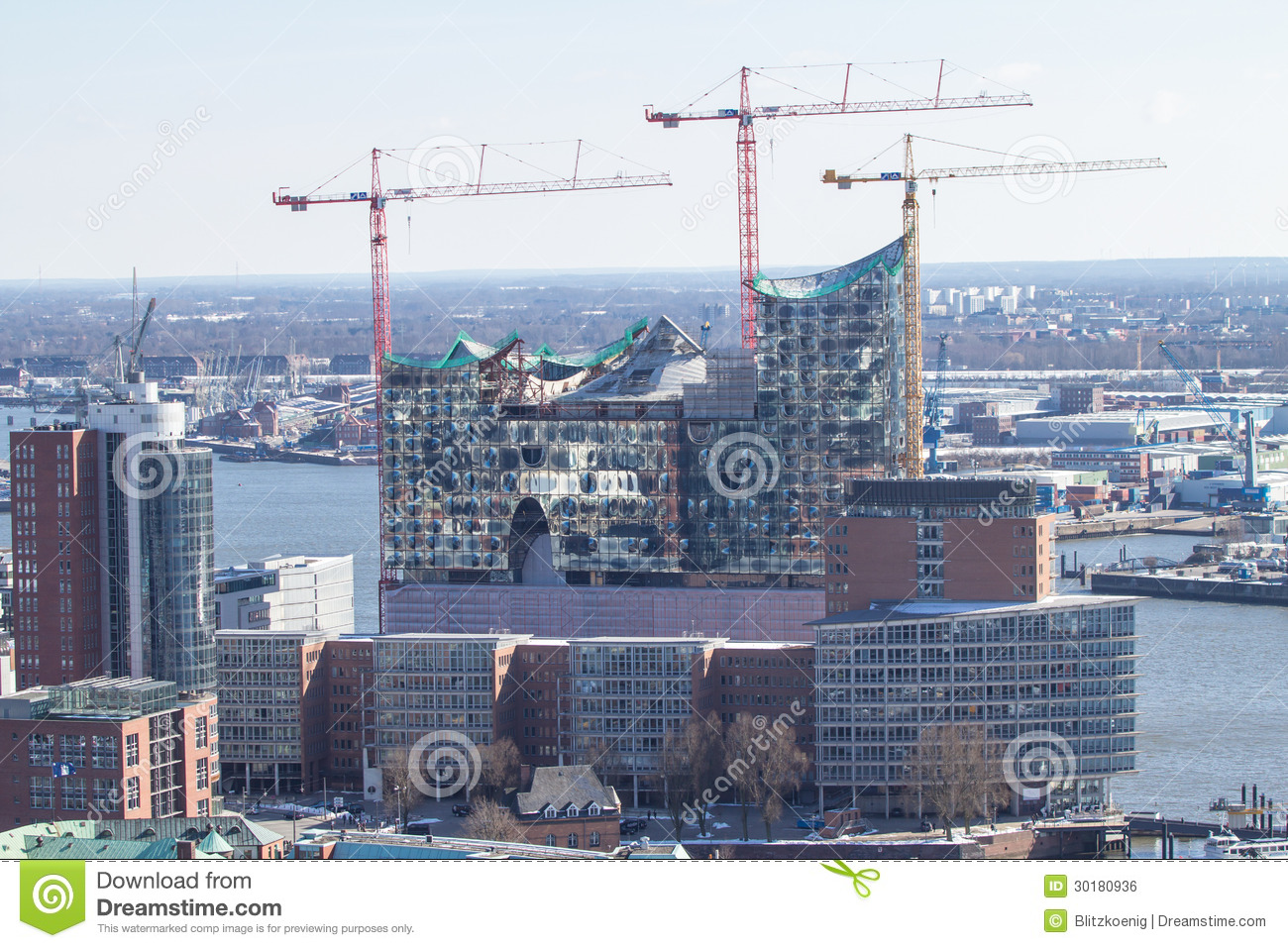 Construction Of New Opera House In Hamburg Stock Photo