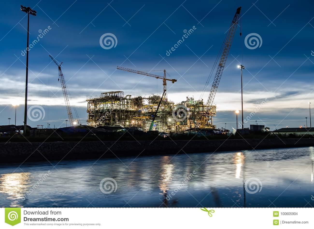 Construction Site Stock Photo Image Of Building Blue 100605904