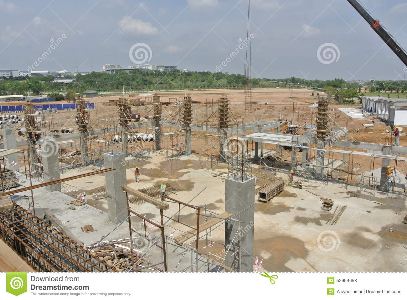 Construction Site In Progress In Malaysia Stock Photo