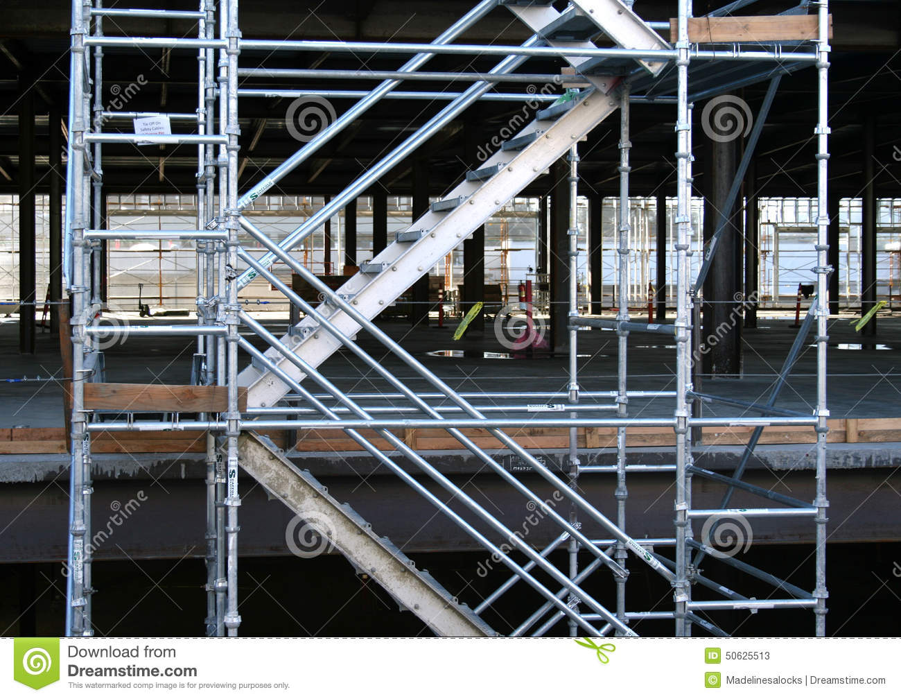 Royalty Free Stock Photo. Download Construction Site Staircase ...