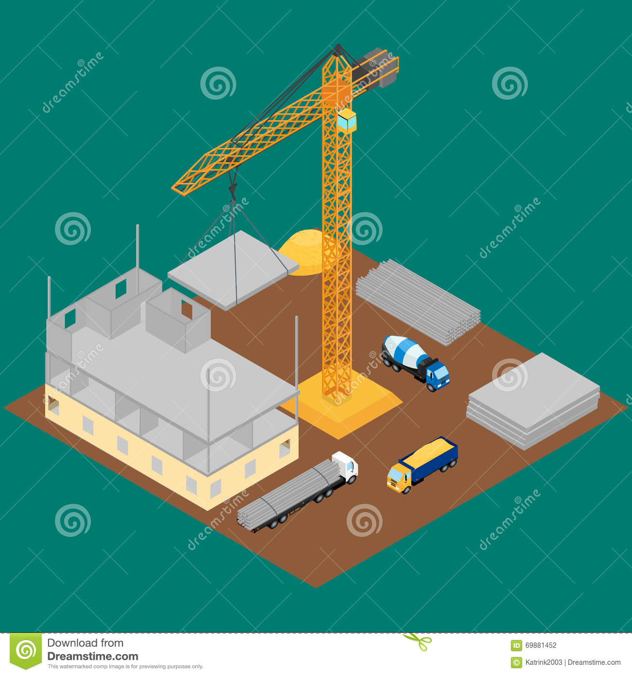 Construction Site Stock Vector - Image: 69881452