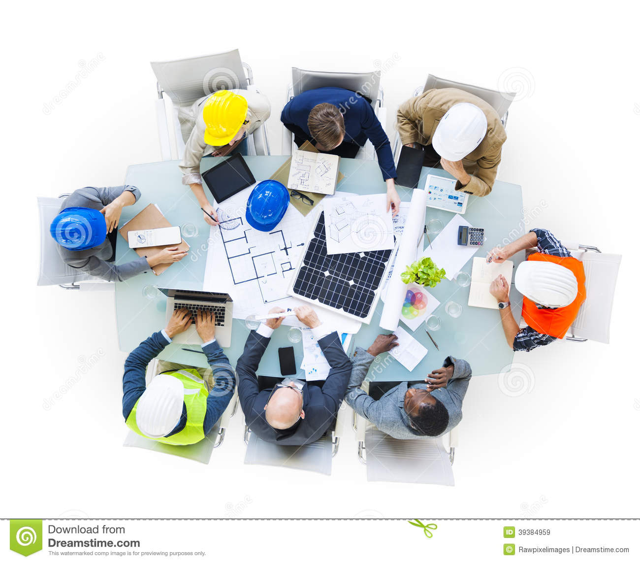 construction site workers on conference table stock image image of discussion conference. Black Bedroom Furniture Sets. Home Design Ideas