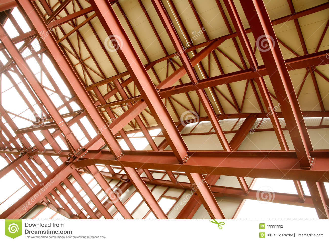 Construction Steelwork stock photo. Image of frame, steelwork - 19391992