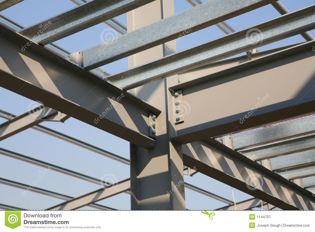 Steel Frame Work : Construction structural steel stock image of