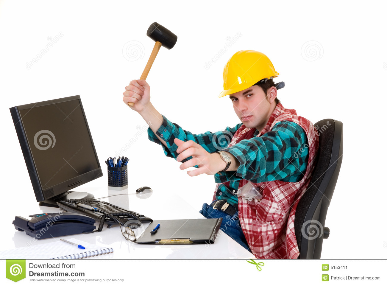 Construction Supervisor Angry Stock Image - Image: 5153411