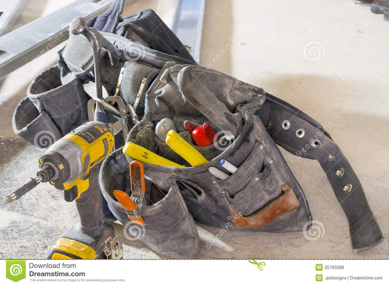 Construction Tool Belt stock photo. Image of belt, tool - 25783288