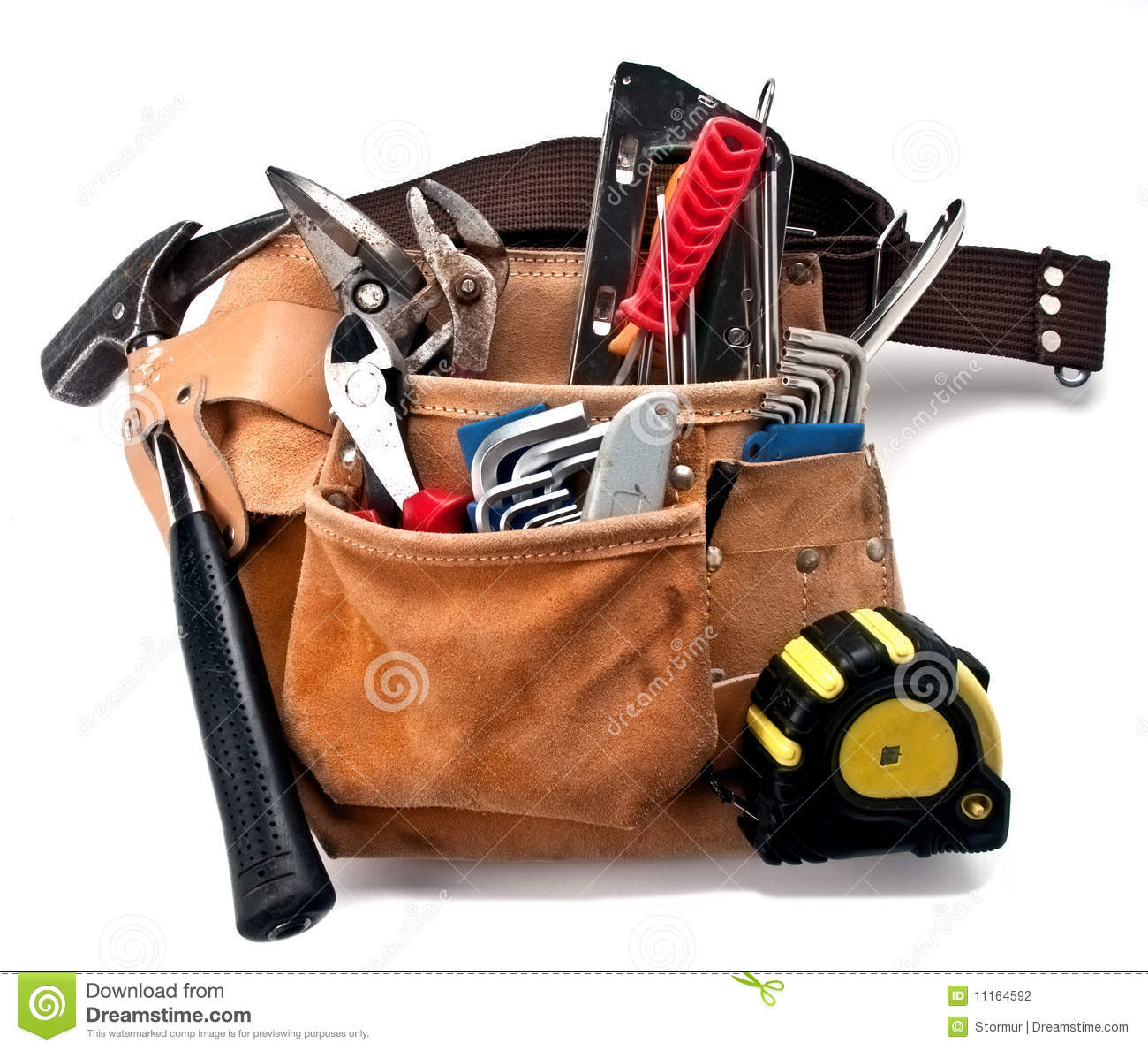 Construction Tools Belt Stock Photography - Image: 11164592