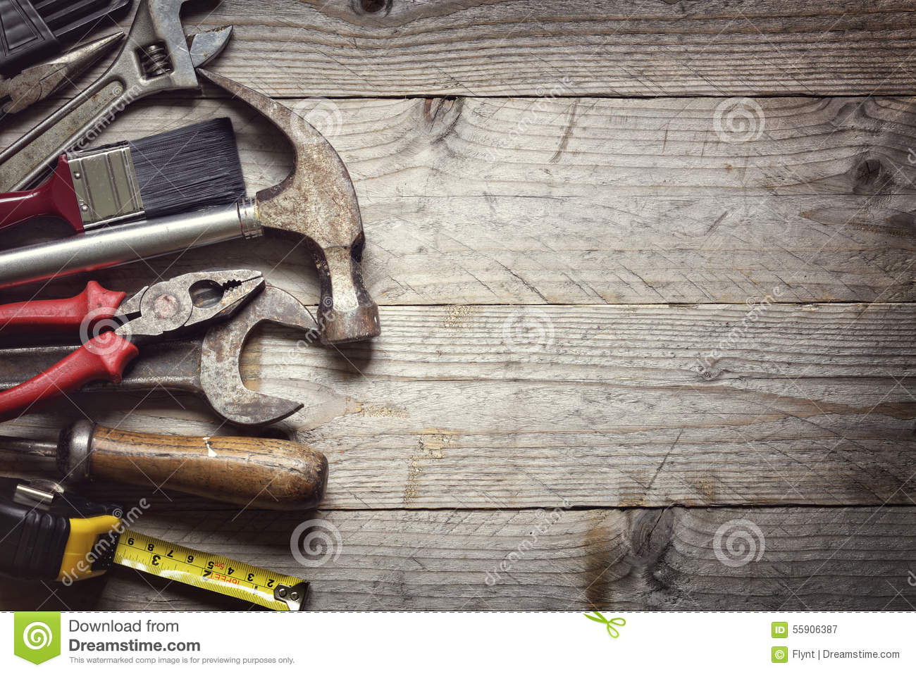Construction Tools Stock Photo Image 55906387