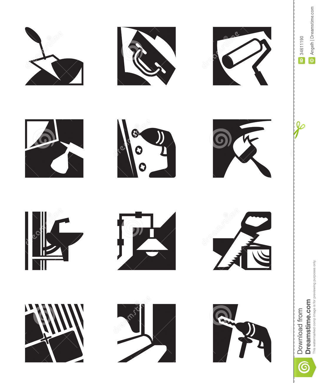 Construction Tools And Materials Stock Photo Image 34611190