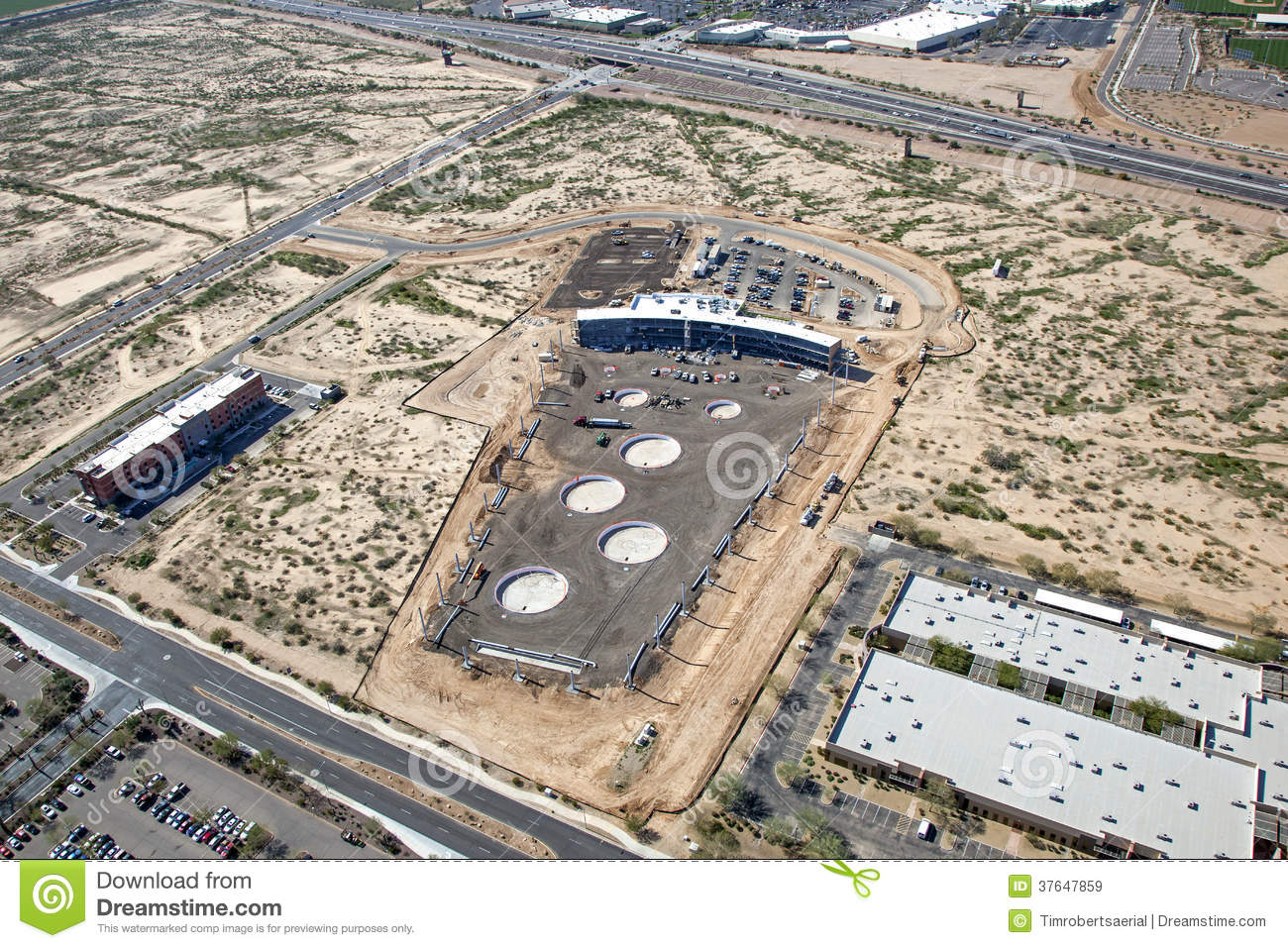 Construction Of Top Golf In Scottsdale Royalty Free Stock Images - Image: 37647859
