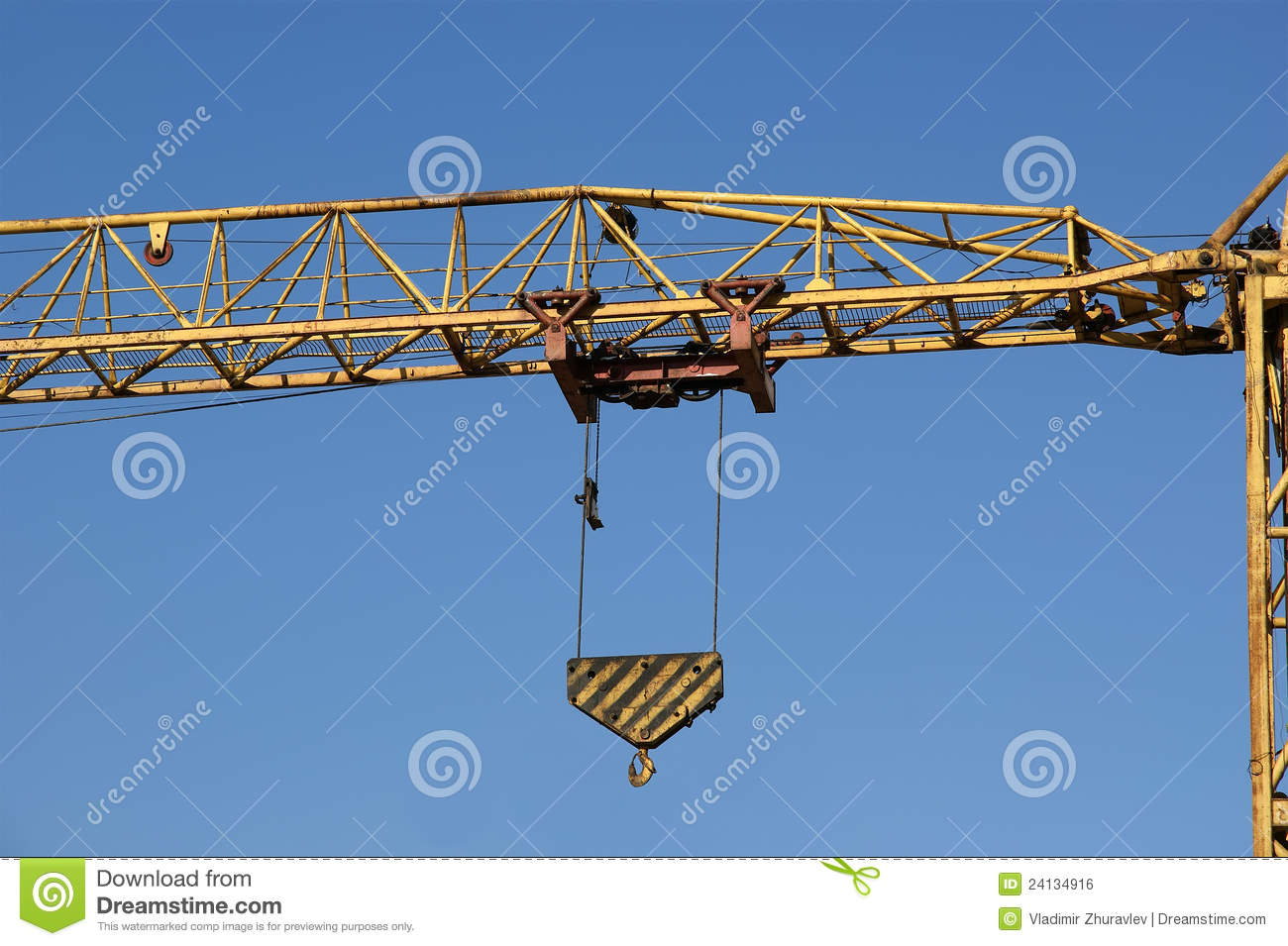 Tower crane structure : Construction tower crane at a site stock