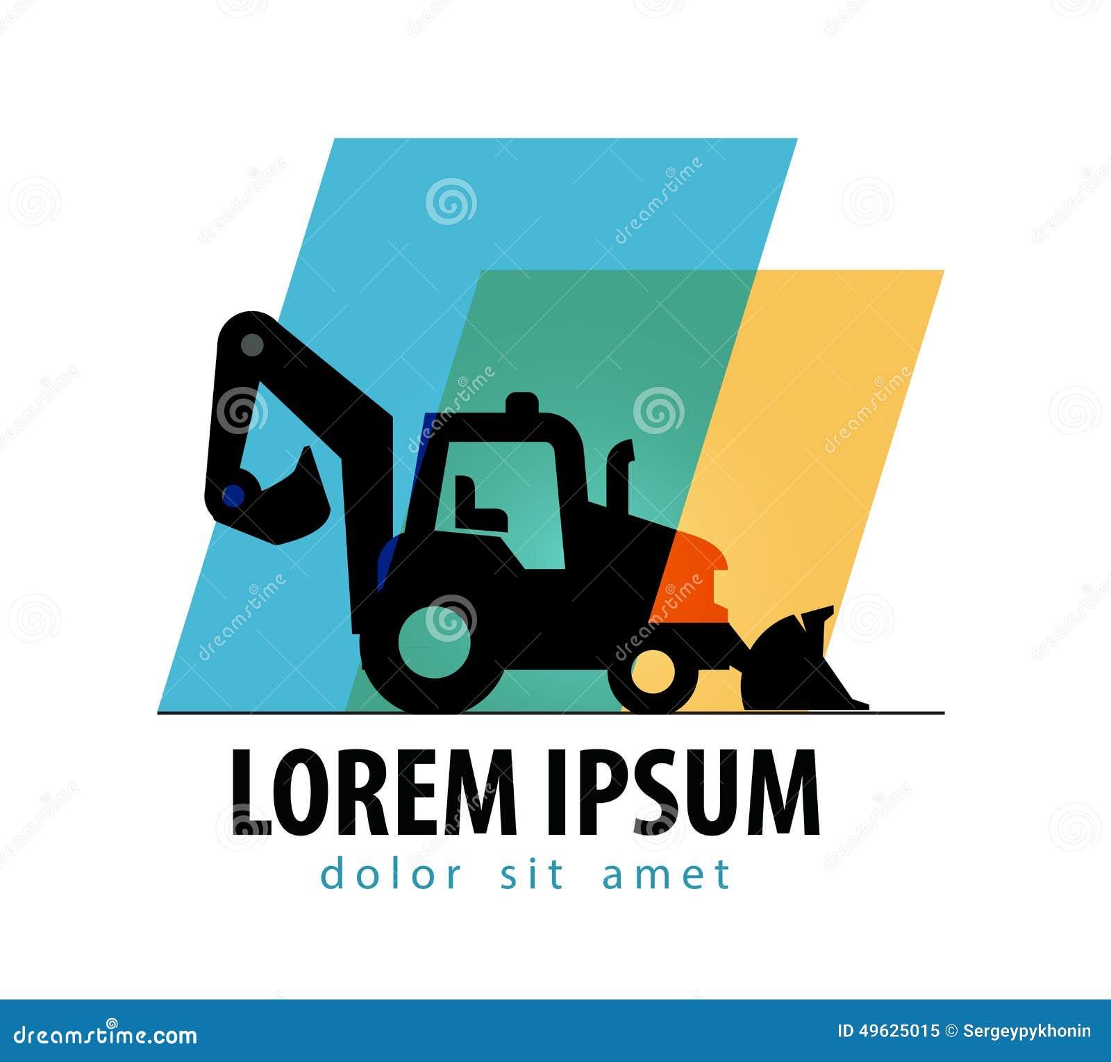 Construction Tractor Vector Logo Design Template Stock ...