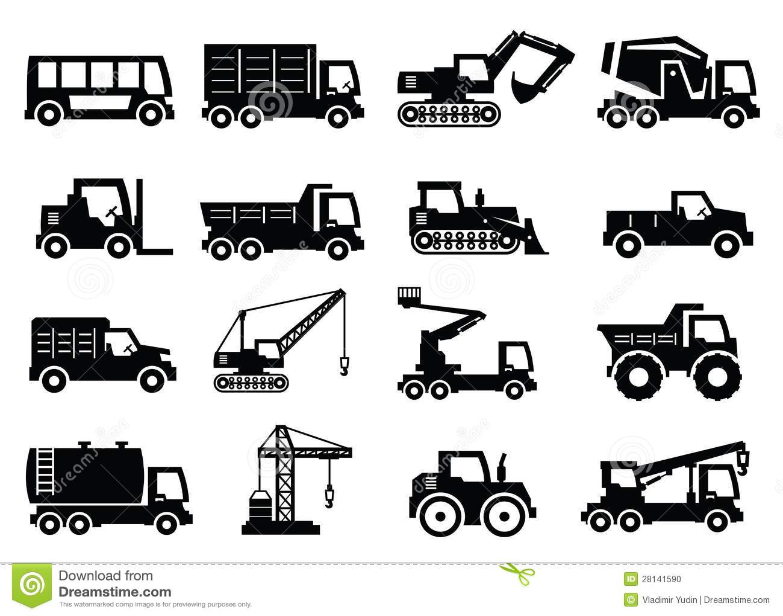 Light Equipment Transport : Transport and construction equipment light gray