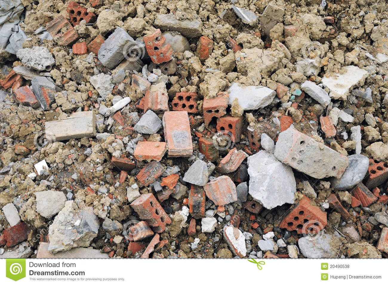 Royalty Free Stock Photos Construction Waste Bricks Image20490538 on material design house