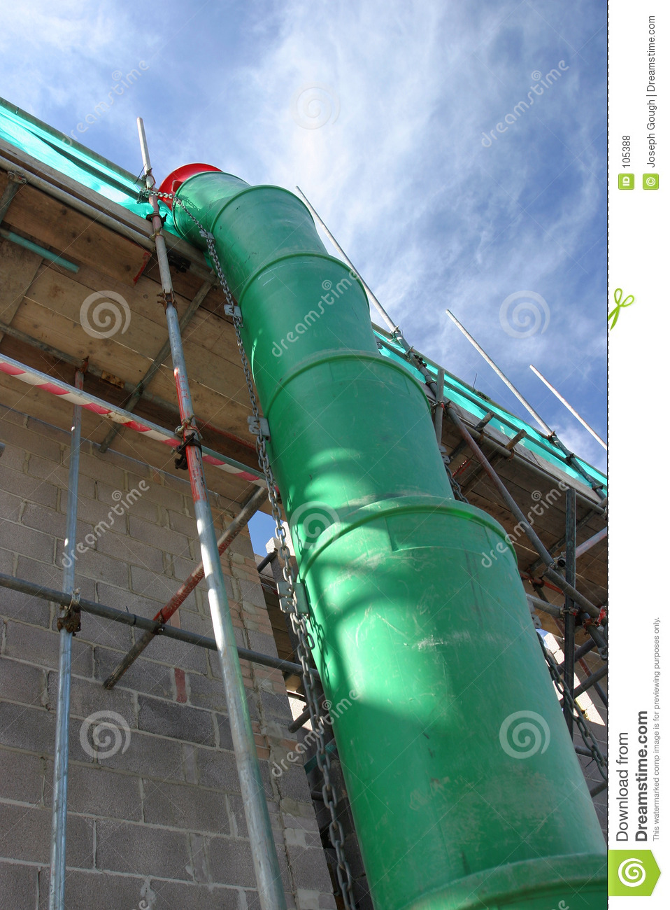 Trash Chute Rubbish : Construction waste chute stock photo image of garbage