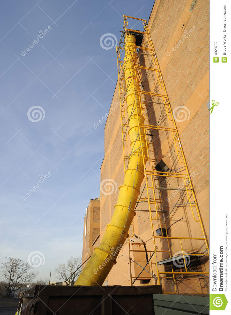 Construction Garbage Chute : Construction waste chute stock photography image