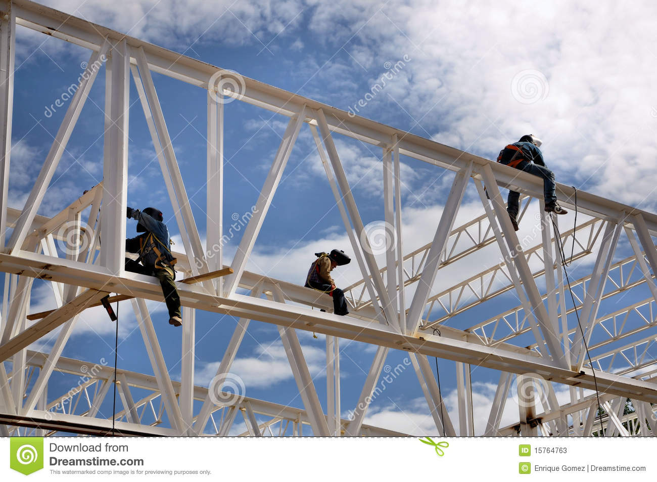 Construction welding workers