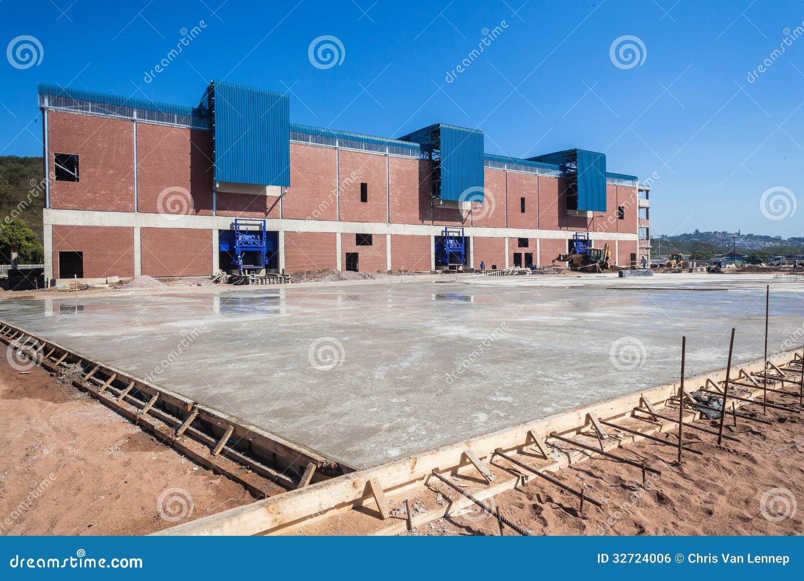 Reinforced Cement Concrete : Construction wet concrete steel floor editorial photo