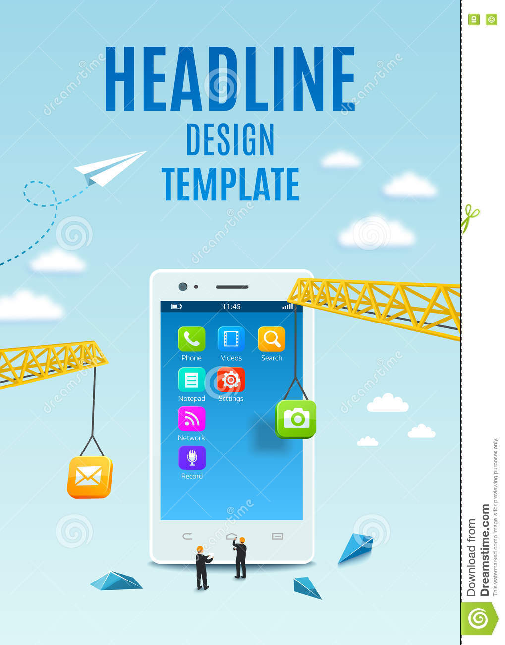 Book Cover Design Application ~ Construction white smartphone software and mobile