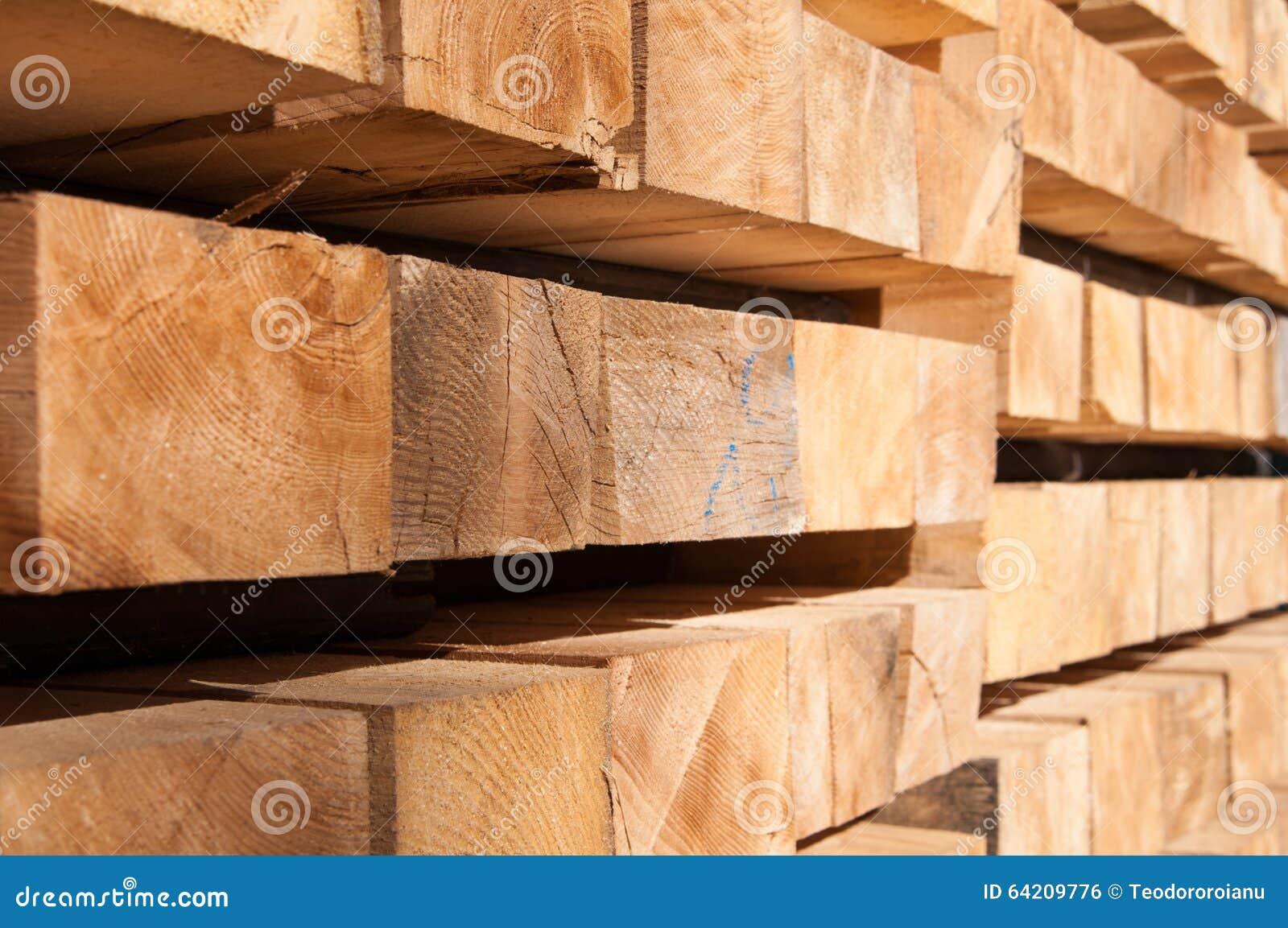 Wood Piling Construction : Construction wood pile stock photo image