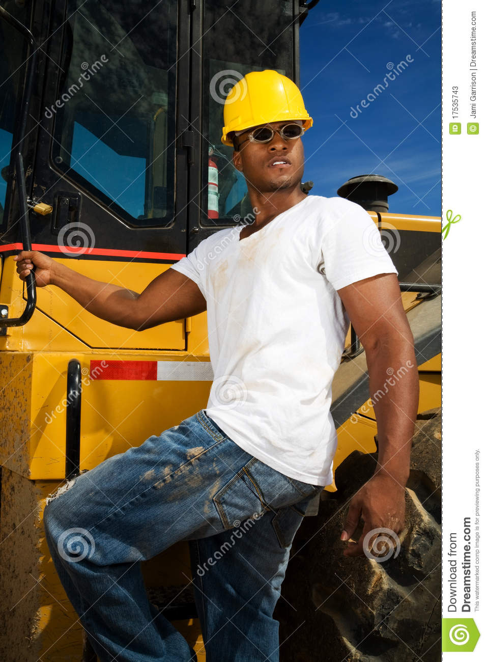 Construction Worker stock image. Image of shirt, dirt - 17535743