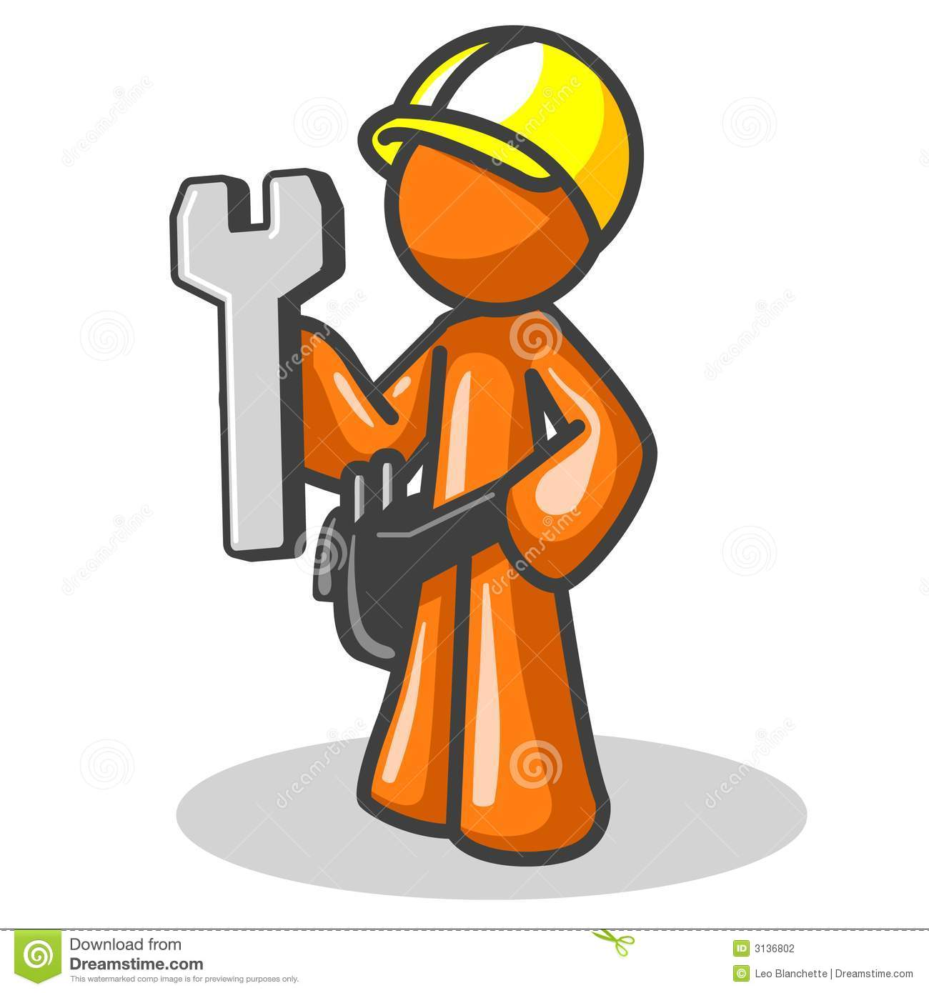 Construction Worker stock vector. Image of design, holding ...