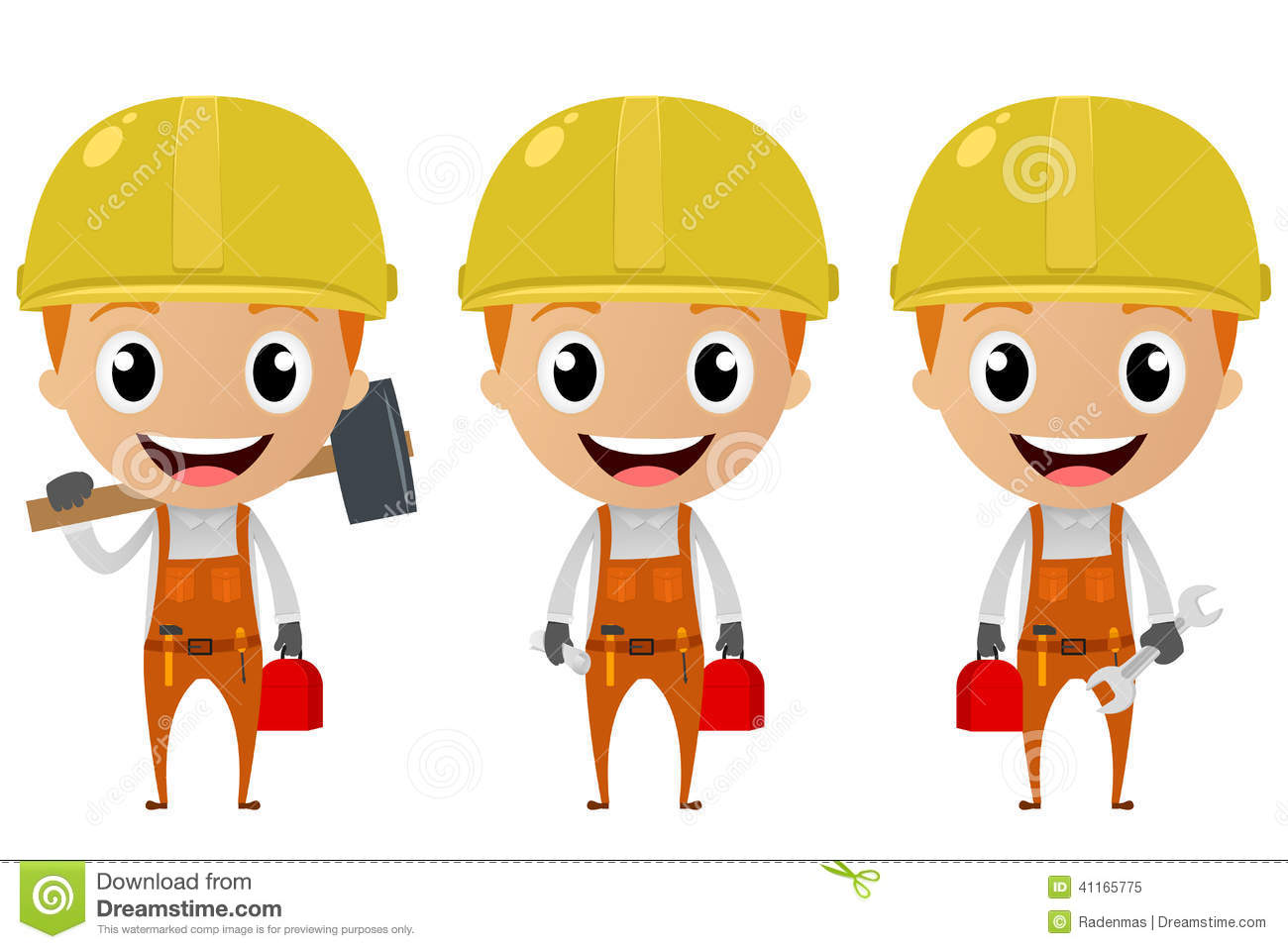 Construction Worker Cartoon Character Stock Vector ...