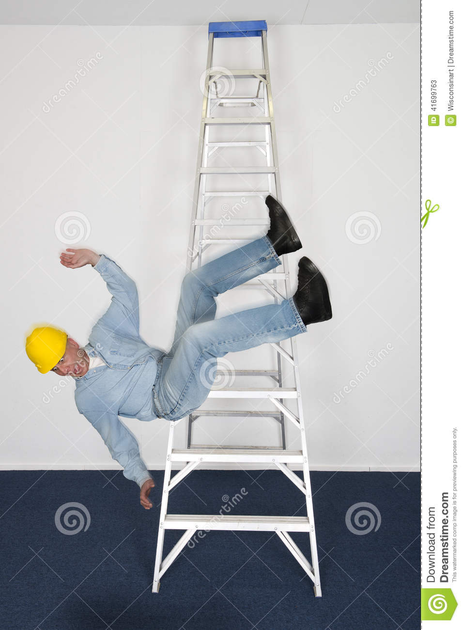 Download COnstruction Worker Or Contractor, Fall, Accident On Job Or Work Stock Image - Image of works, fell: 41699763