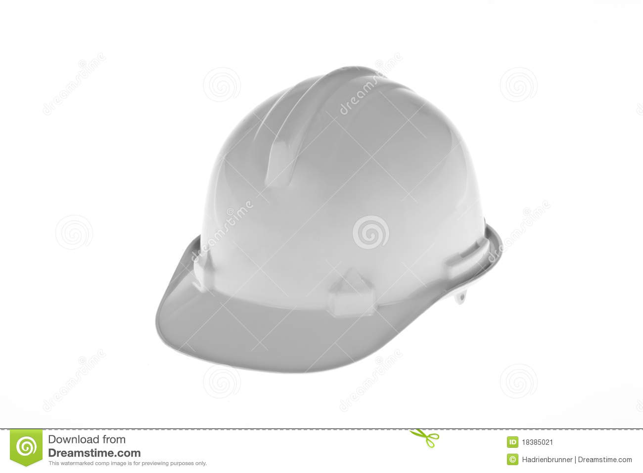 A white construction worker hard hat isolated against a white background 958cd43a4ad