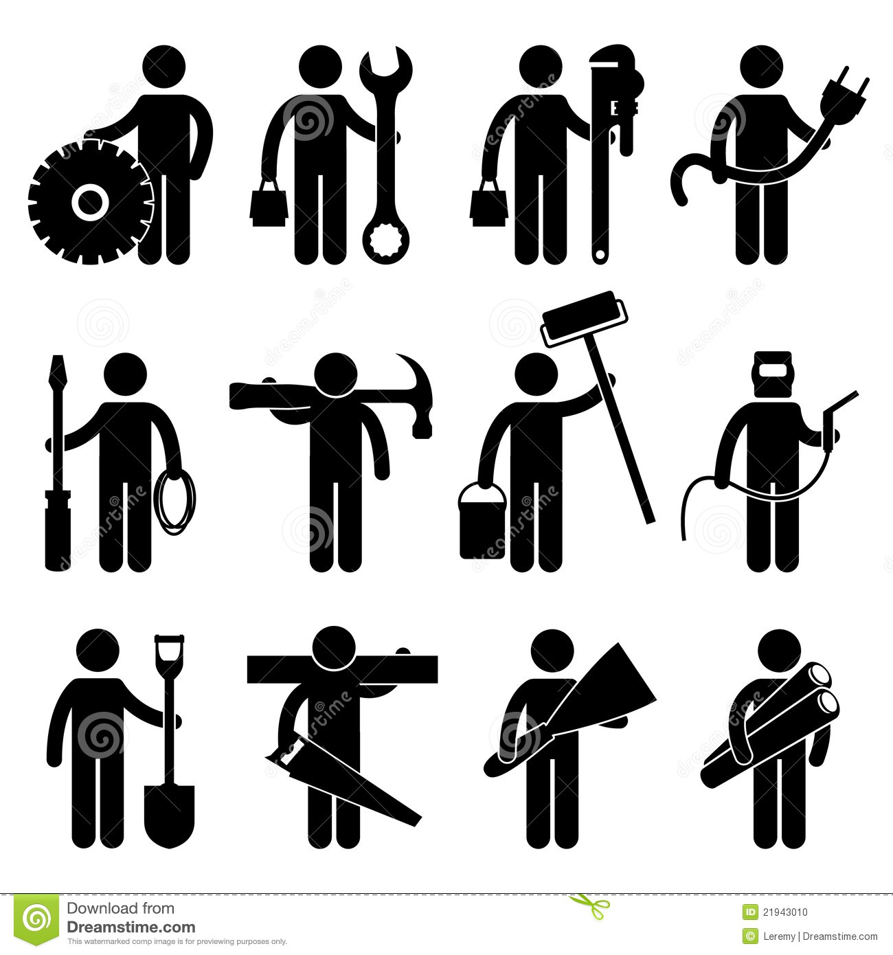 Stock Photo Construction Worker Job Pictogram Image21943010 on illustration career information