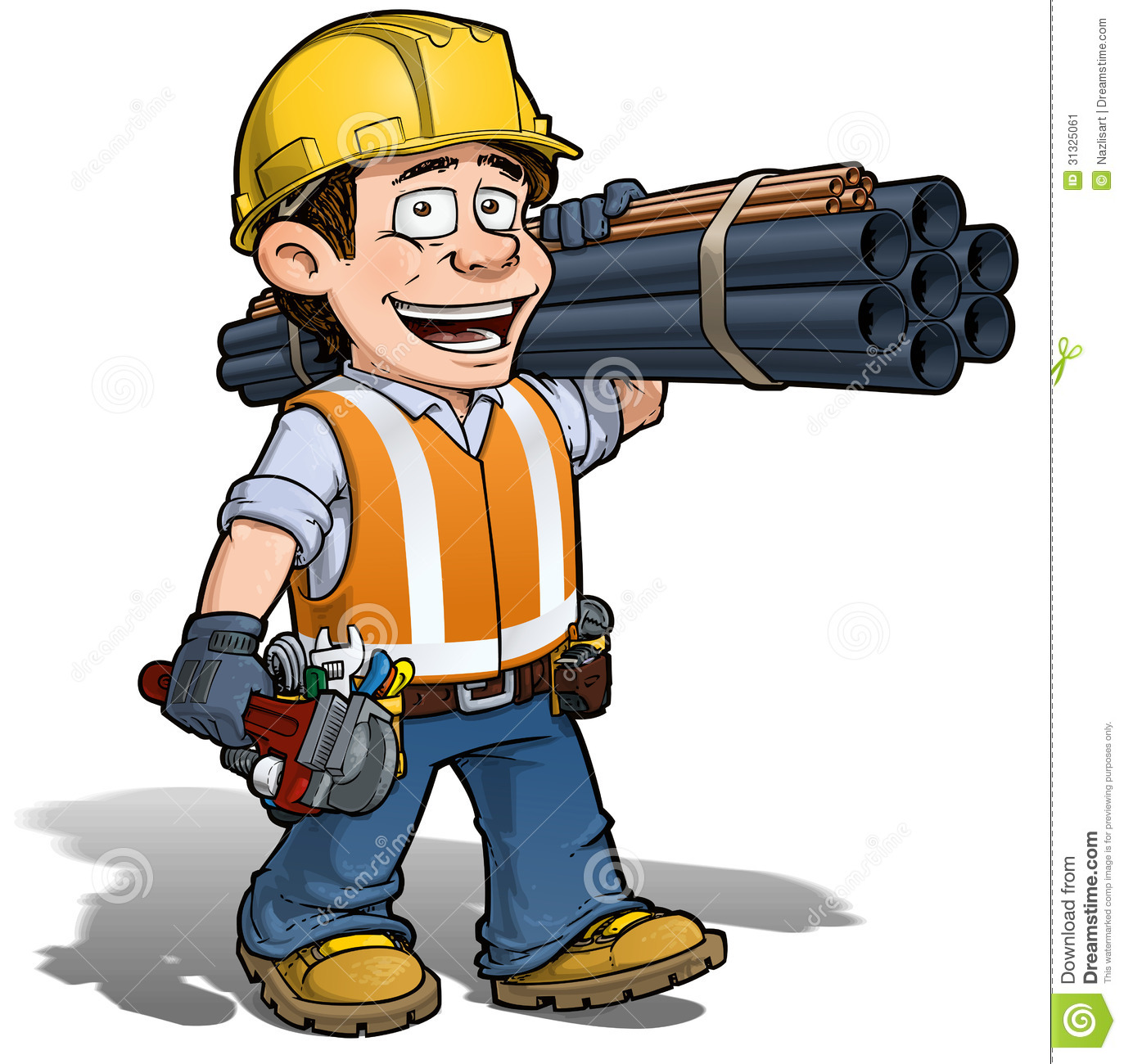 construction worker plumber stock vector illustration handyman clipart free download handyman clip art free online