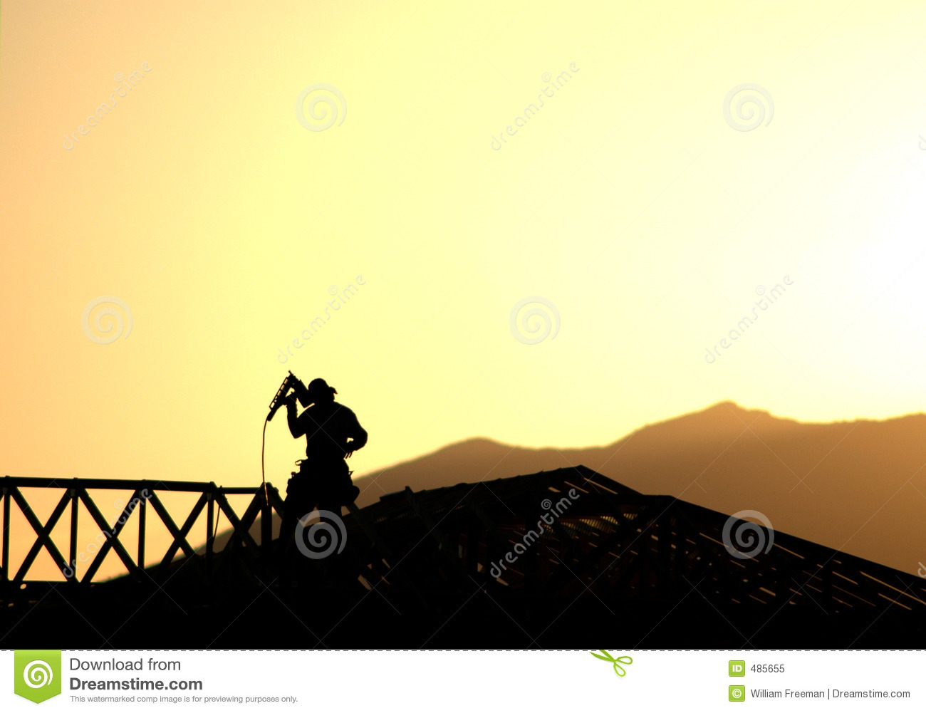 Royalty Free Stock Photo Construction Worker Silhouette Image485655 on air nailer