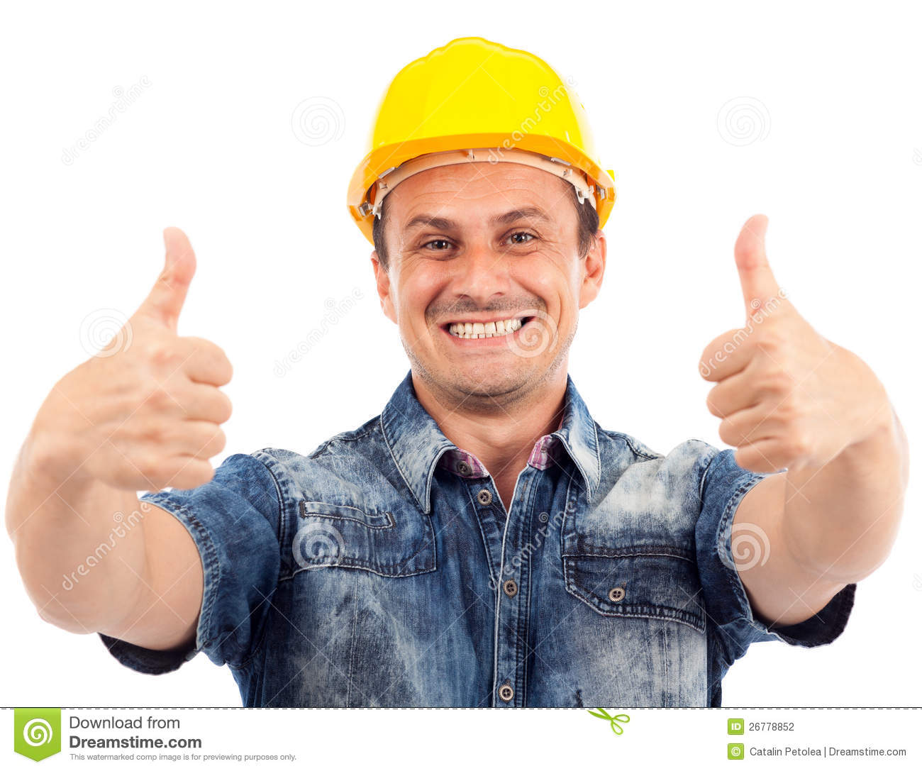 Construction Worker With Thumbs Up Stock Photography - Image: 26778852