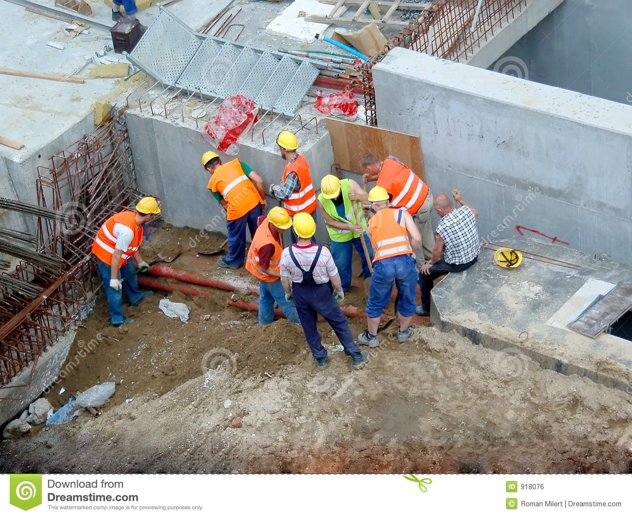 Construction Workers Royalty Free Stock Image - Image: 918076
