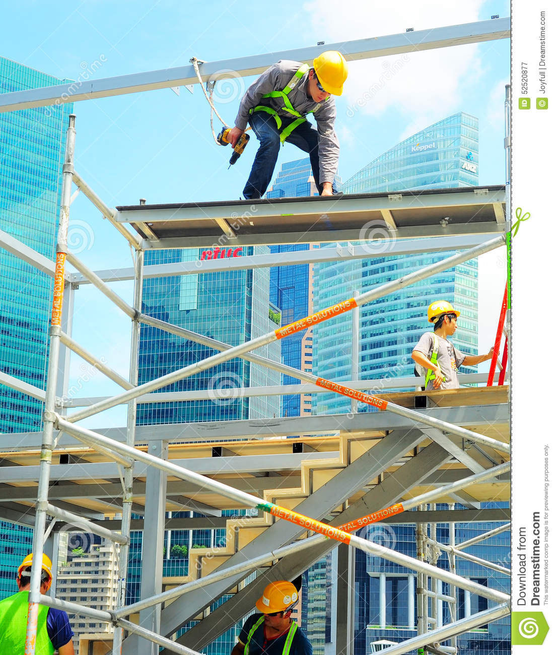 Peddinghaus Industry Singapore: Construction Workers, Singapore Editorial Photography