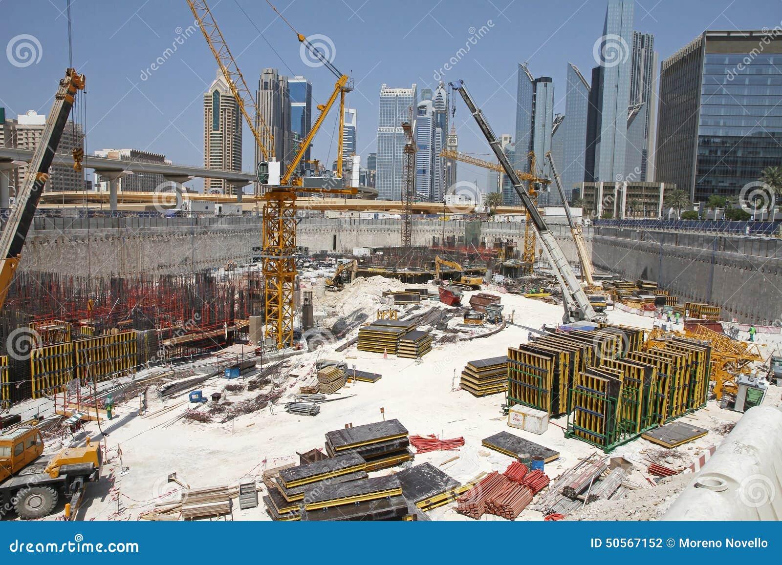 Back Yard Excavation : Construction yard stock photo image of steel building